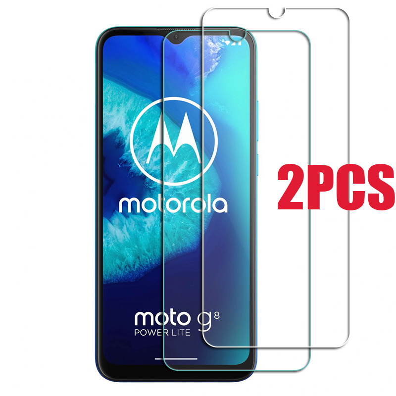 2PCS For Motorola Moto G8 Power Lite Glass Screen Protective Tempered Glass ON Moto e6s G7 Play plus