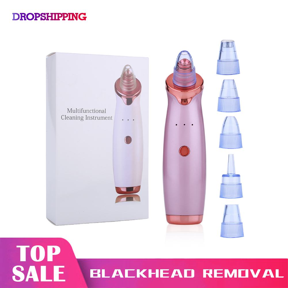 Blackhead Remover Nose Vacuum Suction Tool Facial Diamond Dermabrasion Device Zone Pore Vacuum Acne Pimple Removal Face Clean