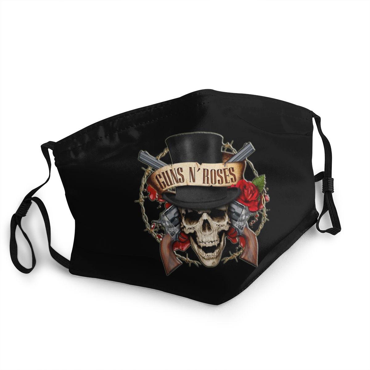 2020 New Guns N Roses Pm2.5 Filter Dust Mouth Mask Hip Hop Women/men Filter Mouth Foam Mask Guns Slash Ladies/mens Mask