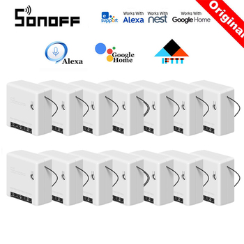 30 Pcs SONOFF MINI Wifi Smart Switch Timer Wireless Switches Smart Home Automation Compatible with eWelink Alexa Google Home 2pcs lot cdebyte e18 ms1 ipx spi smd 2 4ghz cc2530 wireless zigbee smart home automation module