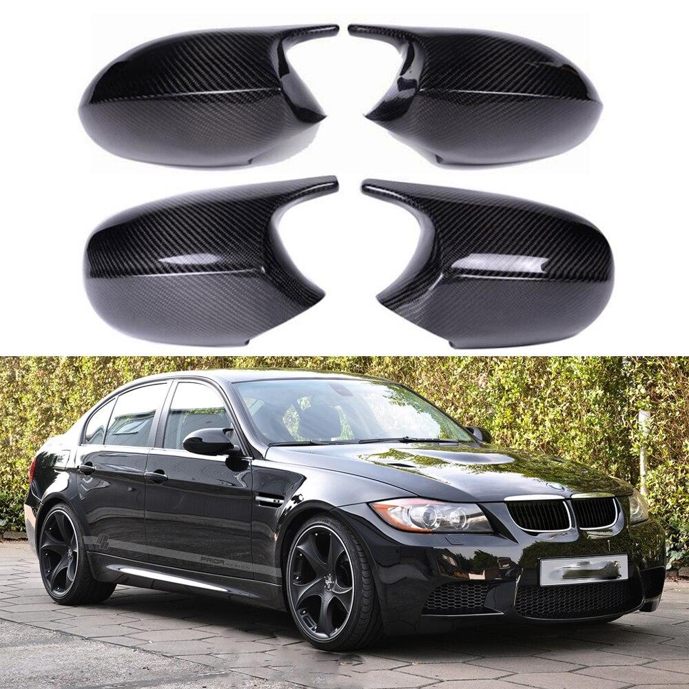 Сменная Крышка для бокового зеркала заднего вида, крышка для BMW E90 E91 E92 E93 E81 E87 E82 E88 3 1 серии M, аксессуары, блеск из углеродного волокна