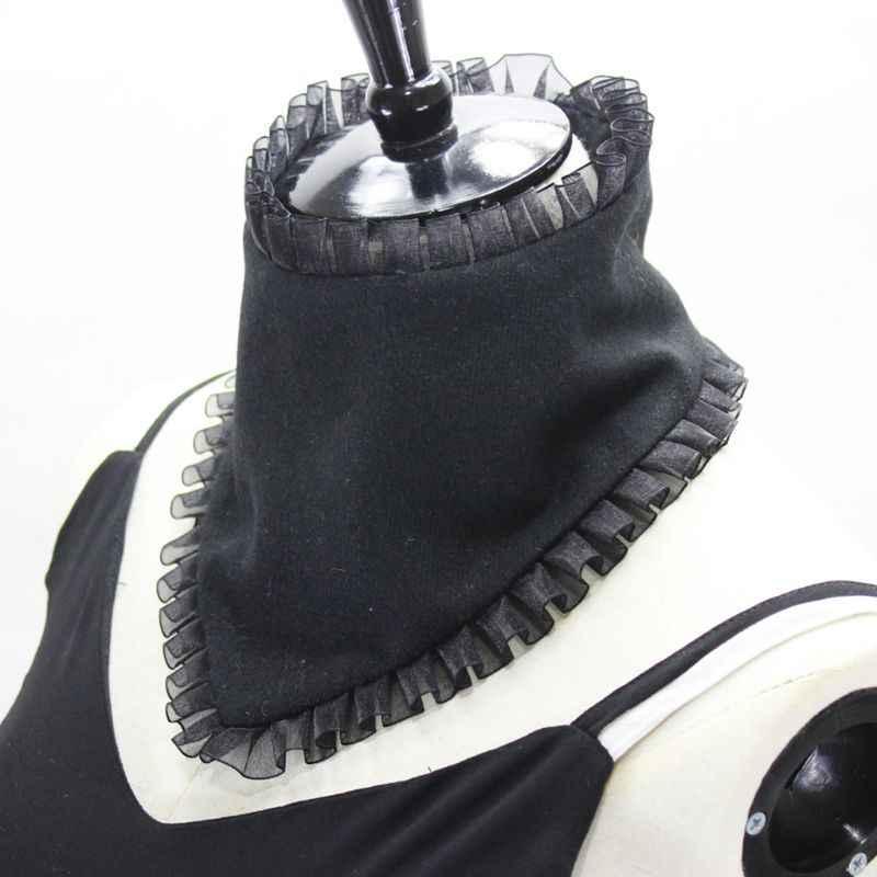 2019 женские плиссированные оборки оправа высокое поддельное ожерелье-воротник чокер шерсть шеи теплее