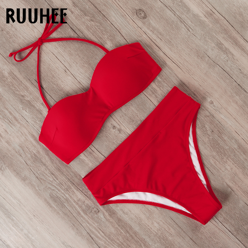 RUUHEE Bikini Swimwear Women Swimsuit 2019 Leopard Brazilian Bikini Set Push Up Bathing Suit Female Summer Beach Wear Biquini 4