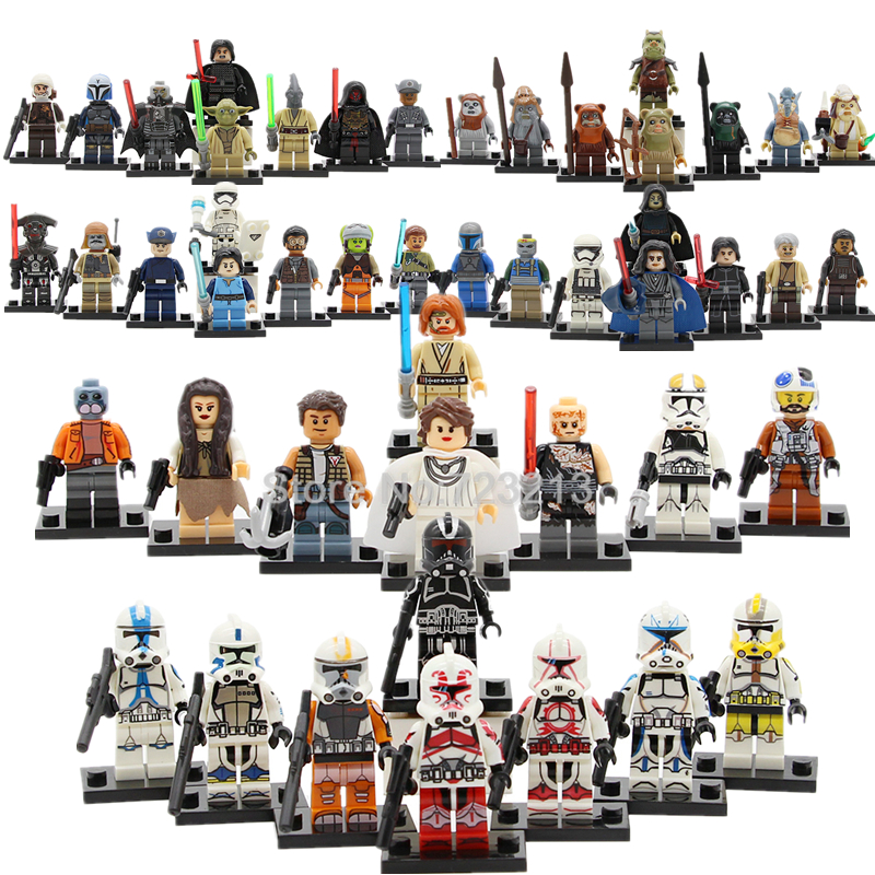 8pcs/lot star wars R2d2 Figure Set  Mace Windu trooper Ren Darth Vader Padme Luke Yoda Building Blocks Kids Toys Christmas gifts