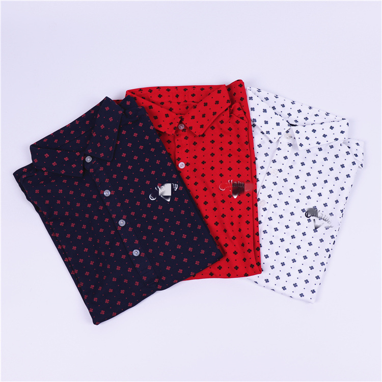 2020new Spring Men Golf Shirt Short Sleeve Quick Dry Turndown Collar Lady Golf Clothing