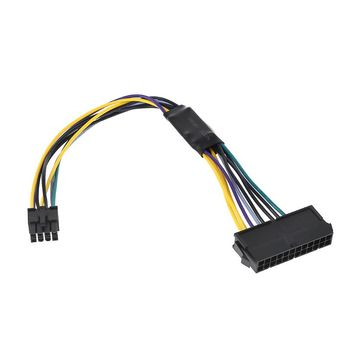 ATX 24P to 8P Power Supply Adapter Conventer Cable Cord Wire for Dell 24Pin to 8Pin Optiplex 3020 7020 9020 Motherboard Server d3d1c 9d9t1 053n4 l265am 00 h265am 00 for optiplex 390 790 990 265w power supply