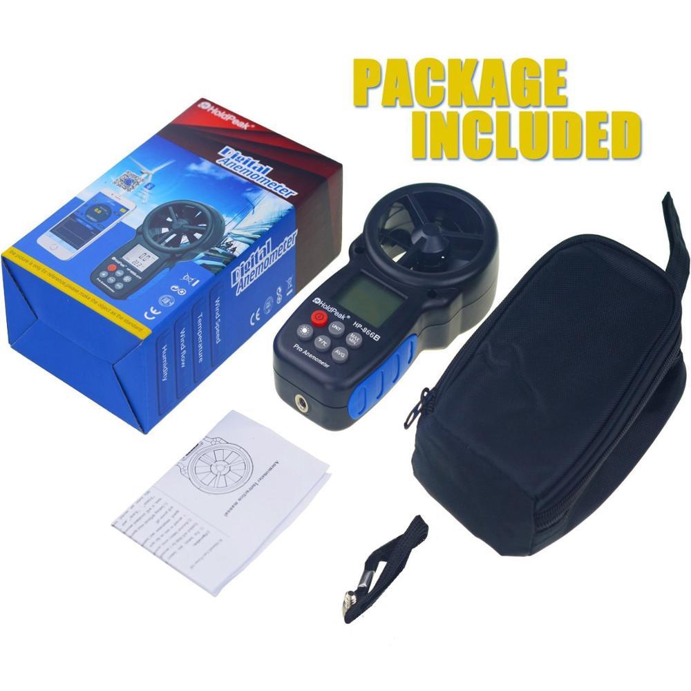 HoldPeak HP-866B Anemometro Anemometro digitale Misurazione della - Strumenti di misura - Fotografia 6
