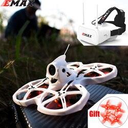 Emax Tinyhawk S II interior FPV Racing Drone con F4 16000KV Nano2 cámara y soporte LED 1/2S batería 5,8G FPV gafas RC avión