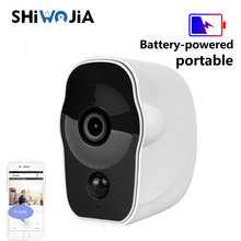 SHIWOJIA Wireless Battery-powered IP Camera Wifi 1080p HD Indoor Home Rechargeable IR Record Audio Portable Surveillance Camera(China)