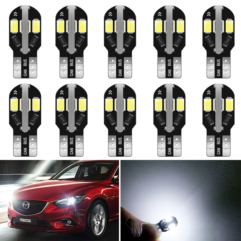10x 12V W5W T10 <font><b>LED</b></font> Auto Lamp Interior Parking Light for <font><b>Mazda</b></font> 6 5 3 Axela CX-5 CX5 2 Spoilers MX5 CX 5 323 CX-7 GH CX3 MPV <font><b>CX7</b></font> image