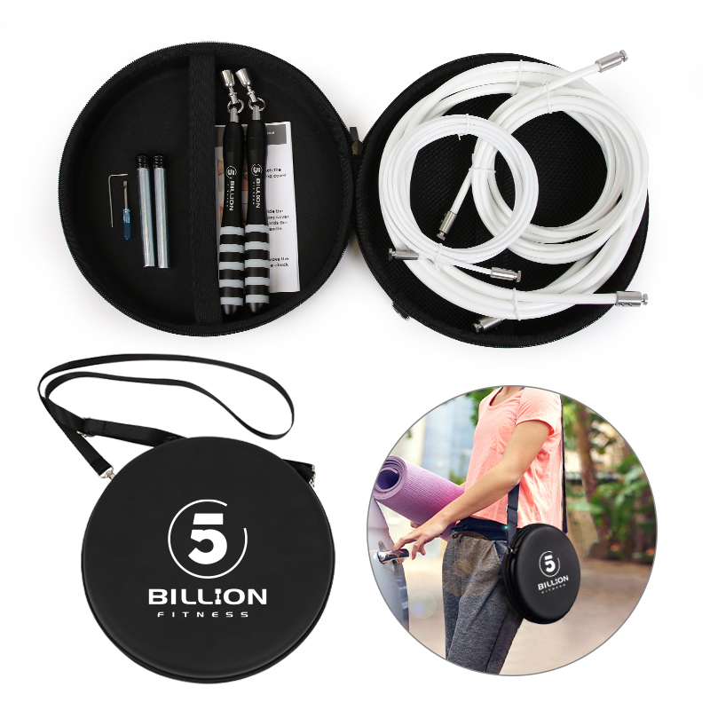 5B Weighted Jump Rope Set Crossfit Fitness Adjustable Fast-clip Connection Rope