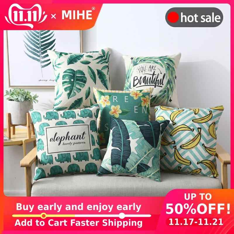 MIHE Christmas Cushion Cover Decorative Pillow Cases For Home Printed Sofa Seat Case Car PillowcaseCar Bed Pillow Case
