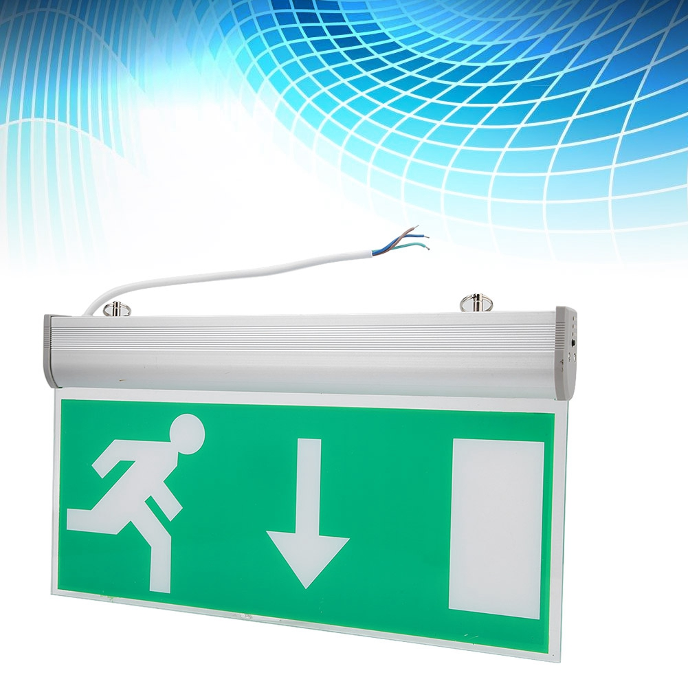 LED Emergency Exit Lighting Sign Safety Evacuation Indicator Light 110-220V LED Emergency Sign Lights Free Shipping