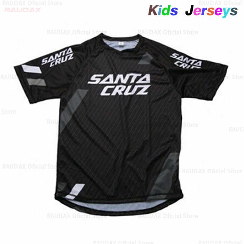 키즈 여름 짧은 소매 산악 자전거 모토 크로스 저지 BMX DH MTB 자전거 티셔츠 의류 통기성 스포츠 다운 힐 저지