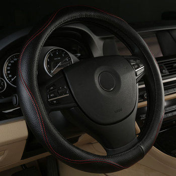 Car Steering Wheels Cover Genuine Leather Accessories for Chrysler Fifth Ave Grand Voyager Imperial LeBaron LHS