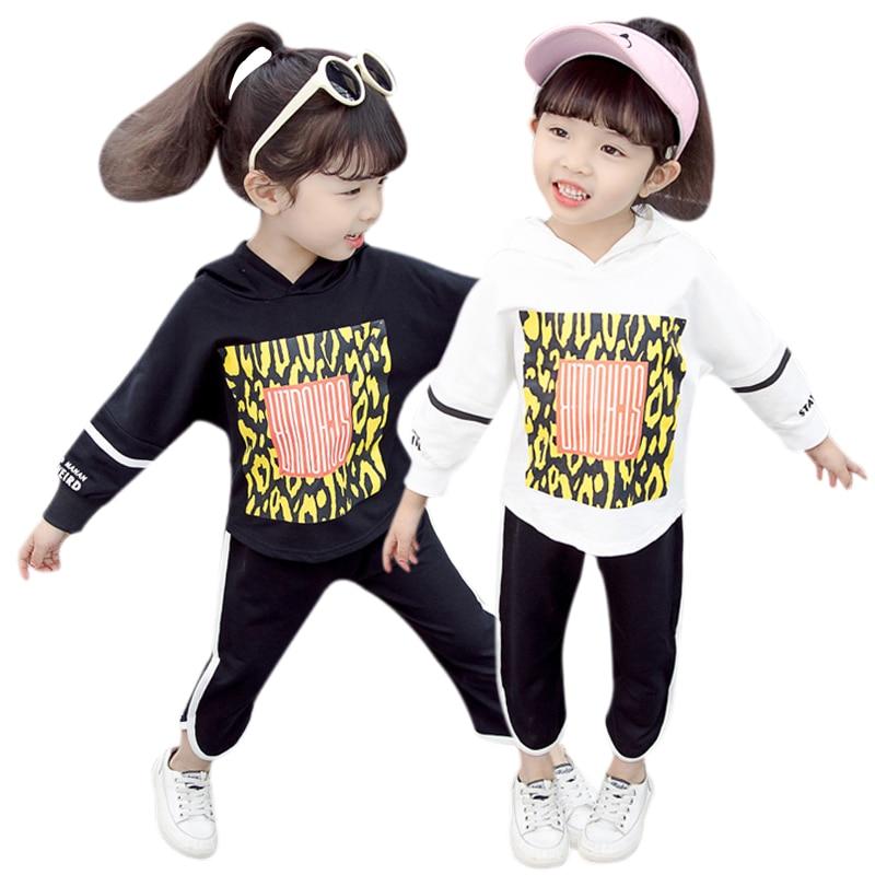 Baby Girls Long Sleeve Floral Print Girl Casual Pants Sets Autumn Hoodie Sweatshirt Tops+Pants Trouser Costume Set