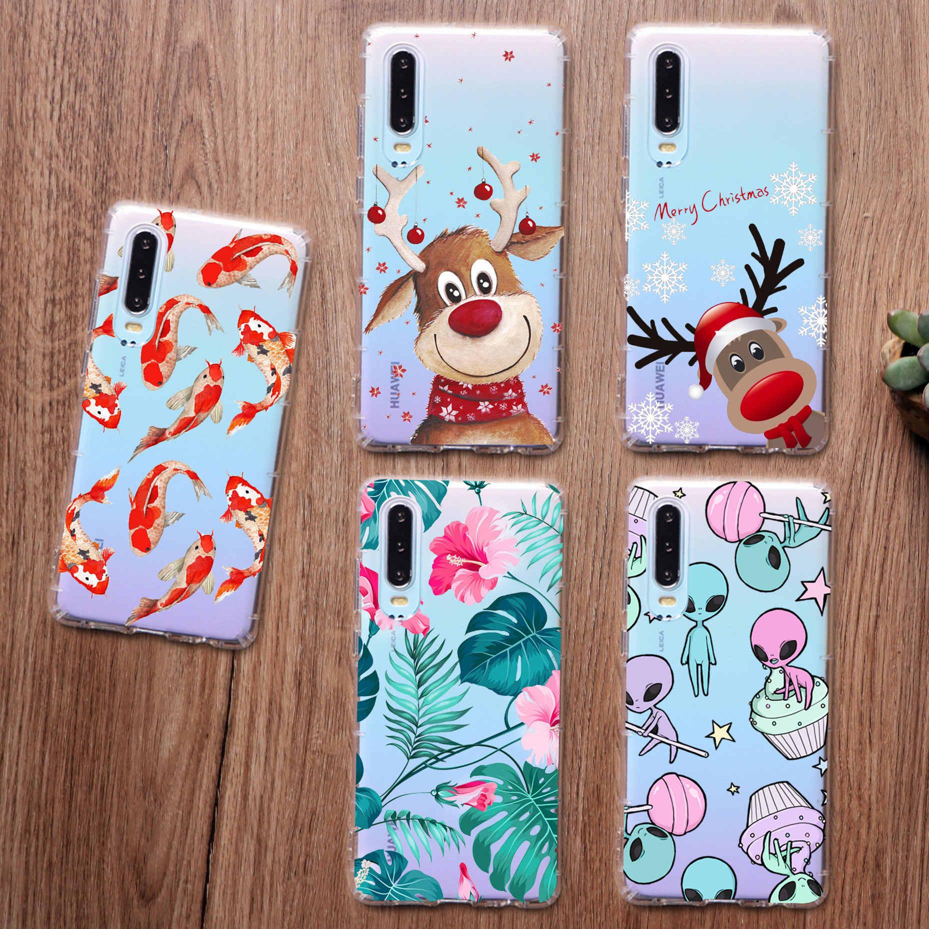 Yeni yıl elk balık sevimli bakım ayılar kız hediyeler sanat telefon samsung kılıfı A50 A70 S10 A30 S8 S9 artı S7 a6 2018 artı S11 TPU kılıf
