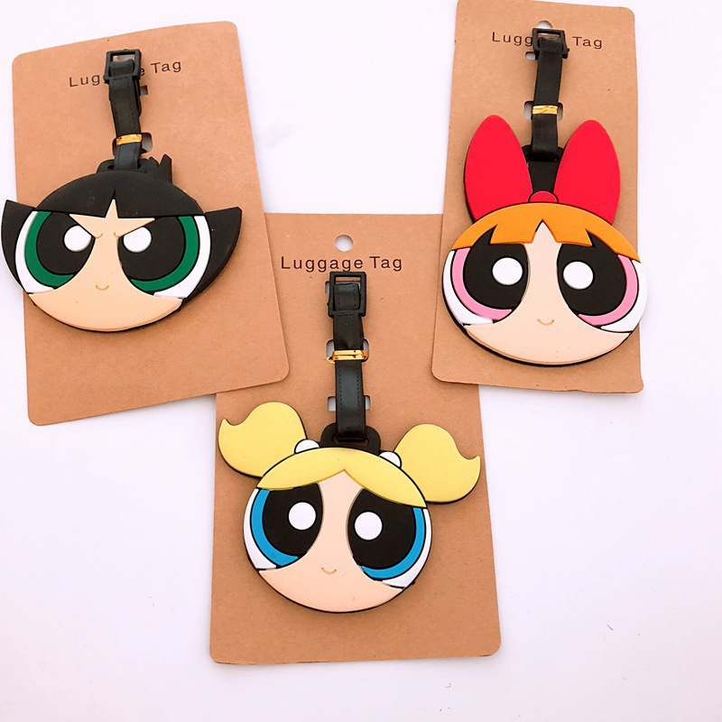 Girls Like New Creative Cartoon Luggage Tag Cute Boarding SILICA GEL Tag Luggage Check Tag Travel Accessories Woman Policer
