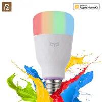 Yeelight-bombilla LED inteligente para hogares, lámpara inteligente colorida de 800 lúmenes, 8,5 W, E27 Lemon, opción blanca/RGB para Mi aplicación para hogares, nueva versión