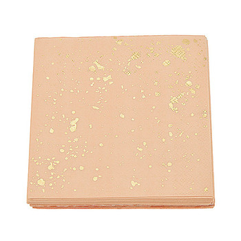 Free Ship 400pcs Foil Gold Blush Pink Marble Texture Paper Napkins Party Wedding Carnival Tissue for New Year School Party Decor
