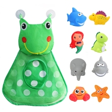 Baby Bath Toys Storage-Bag Floating-Bathtub Pool-Play-Toys Light-Up Flashing-Color Kids