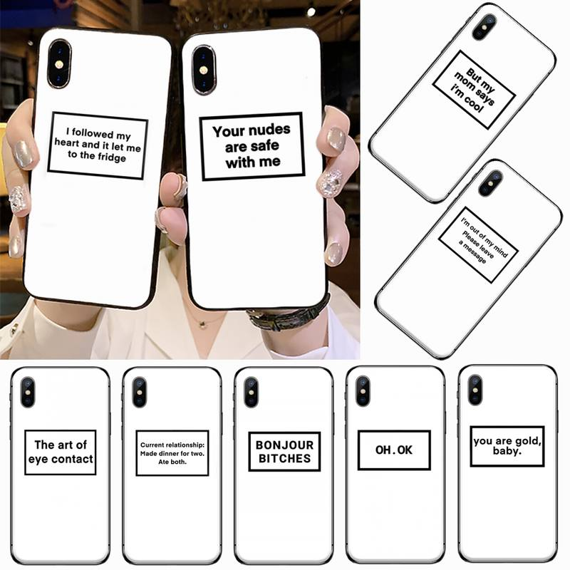 Funny Letter Phone Case for iPhone 11 12 pro XS MAX 8 7 6 6S Plus X 5S SE 2020 XR