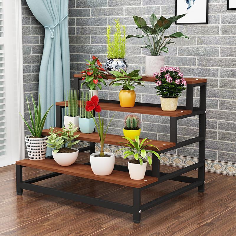 Porta Piante Macetas Stand Saksi Standi Flores Estanteria Estante Para Plantas Balcony Rack Dekoration Flower Plant Shelf