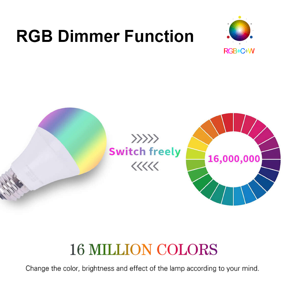 Light Bulb, E27 RGB LED 12W-15W | WIFI 4