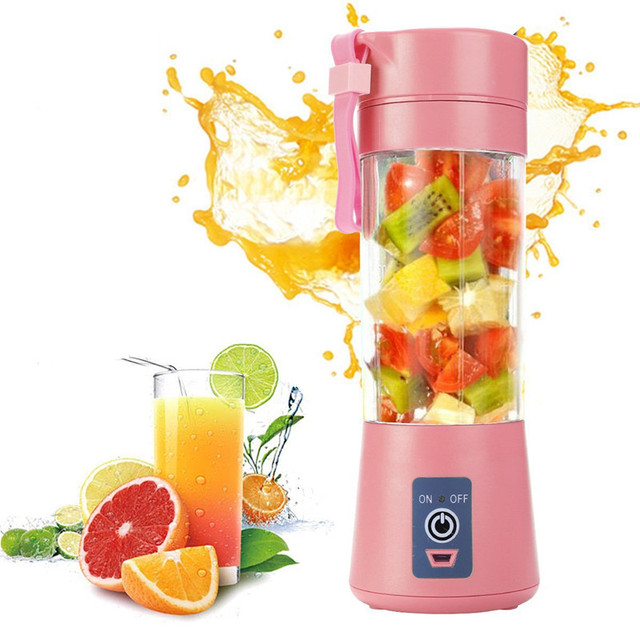 Portable Glass Blender USB Mixer Electric Orange Juicer Machine Smoothie Blender Mini Food Lemon Squeezer Juice Press Extractor 1