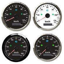 85 мм GPS Спидометр 200 км/ч красный желтый светильник для автомобиля лодки грузовика с левым и правым поворосветильник и звуковым сигналом пре...