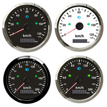 Light Boat-Truck Gps Speedometer Overspeed Km/H 85mm Yellow Red 200 for Car with Left