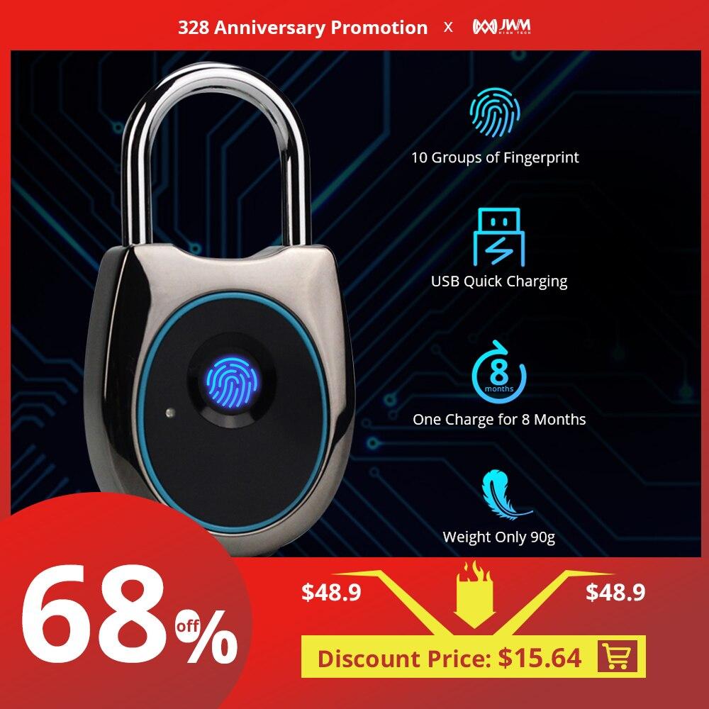 JWM Smart Door Lock Fingerprint Fingerprint Door Lock Keyless USB Rechargeable Door Lock Fast Unlock