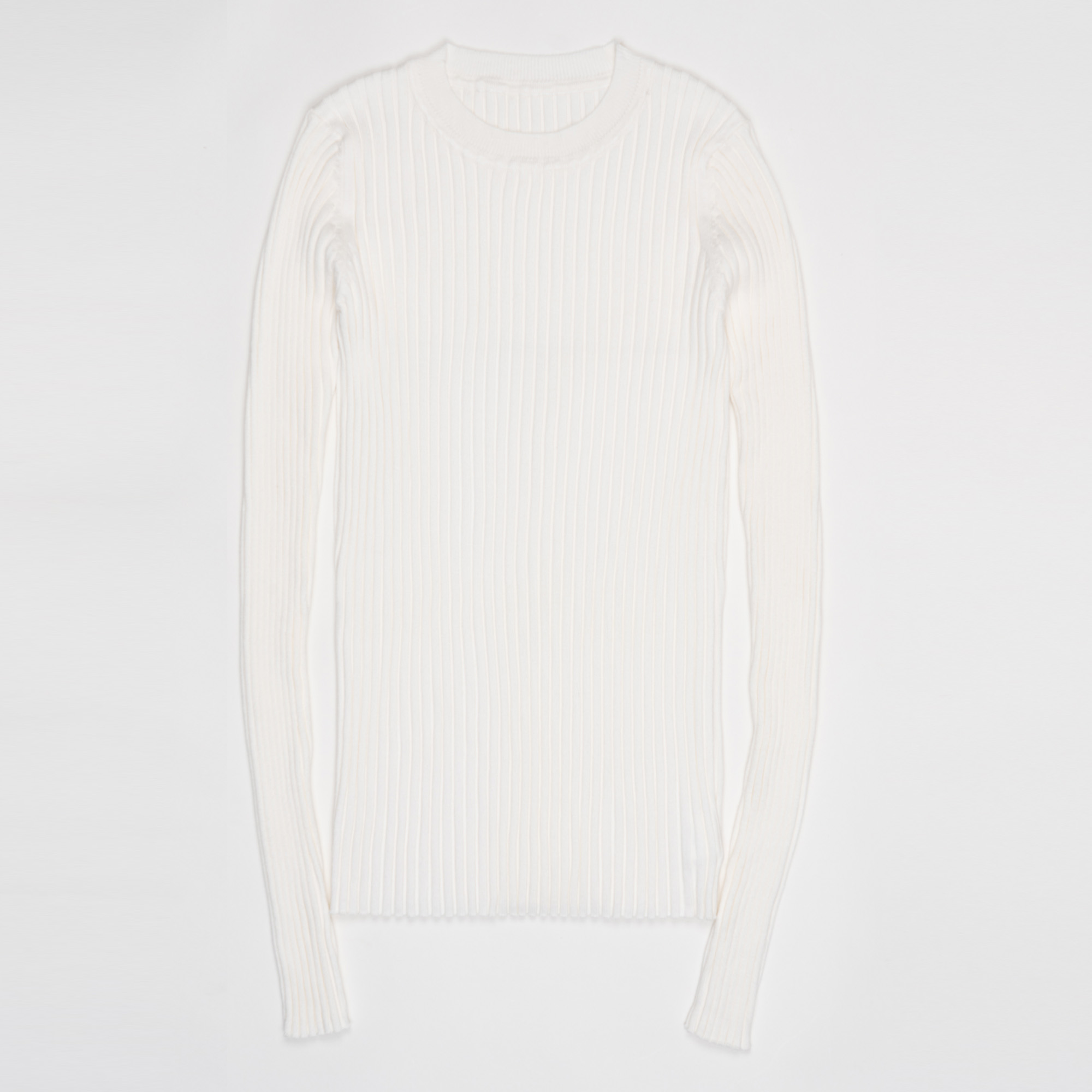 Women Sweater Pullover Basic Ribbed Sweaters Cotton Tops Knitted Solid Crew Neck With Thumb Hole 27