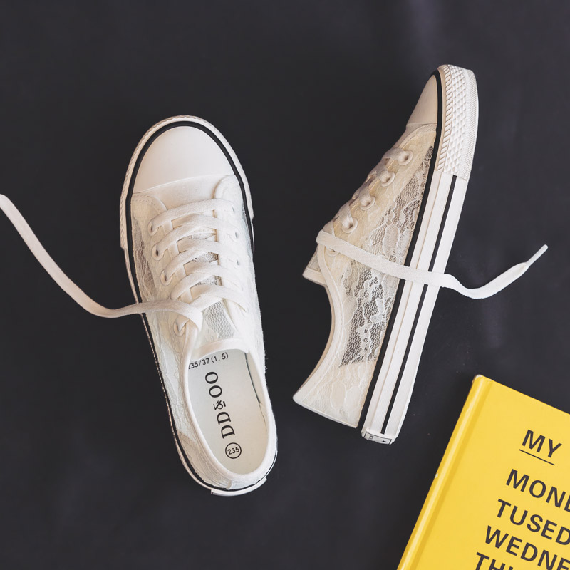 Women Sneakers 2020 Summer New Fashion Flats Lace Shoes Female Breathable Casual Sneaker White Women's Vulcanize Shoes
