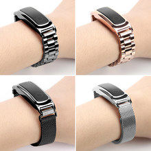 Metalen Band Voor Honor Band 4 (Hardlopen)/Honor Band 5 (Sport) armband Huawei Band 3e/Band 4e Rvs Vervanging Polsband