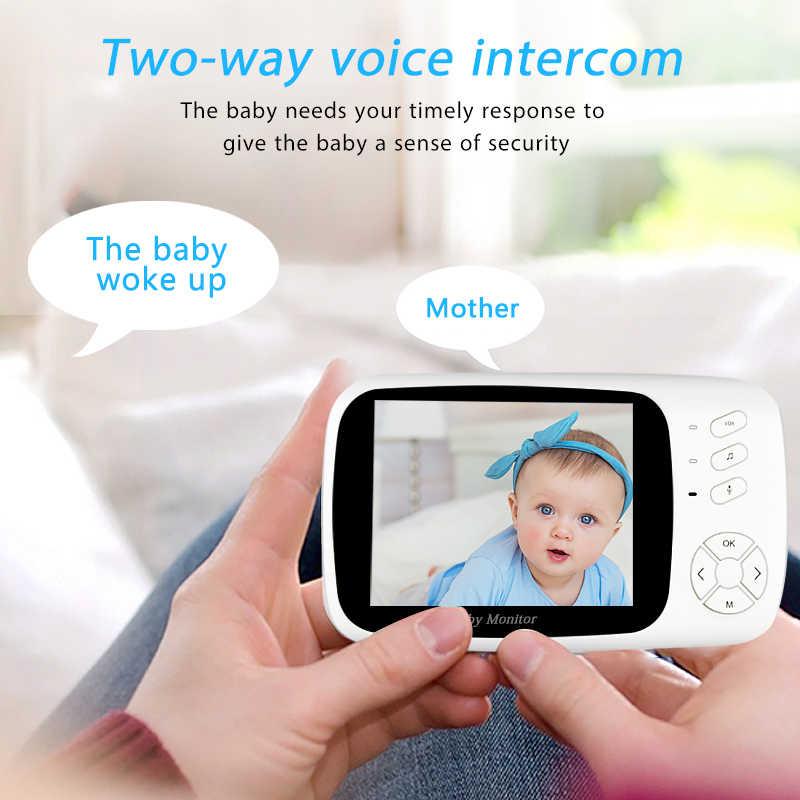 3.5 بوصة فيديو لاسلكي اللون مراقبة الطفل عالية الدقة الطفل مربية الأمن كاميرا 2 طريقة للرؤية الليلية مراقبة درجة الحرارة