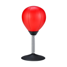 Relief-Ball Punching-Ball-Stress Suction-Cup Desktop with Pump Adult Office Home Red