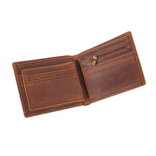 Crazy Horse leather wallet men's wallet wallet casual men's leather clutch wallet