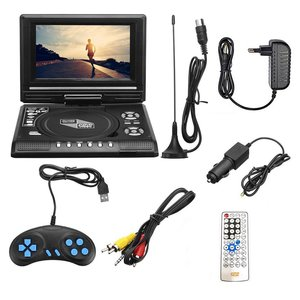 7.8 Inch Portable HD TV Home Car DVD Player VCD CD MP3 DVD Player USB Cards RCA TV Portatil Cable Game 16:9 Rotate LCD Screen