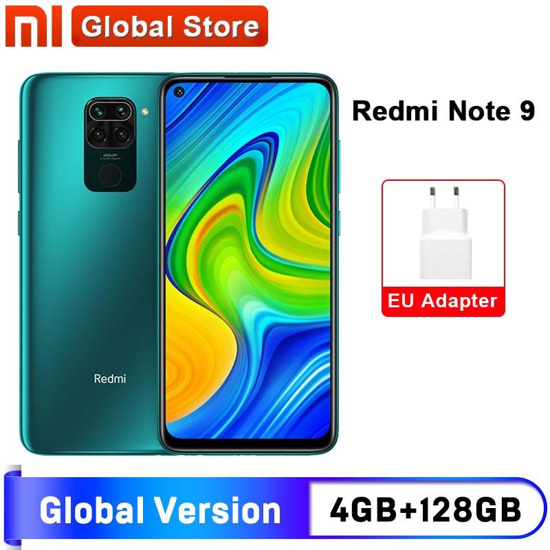Смартфон Xiaomi Redmi Note 9, 4 гб + 128 гб, 8-ядерный процессор MTK Helio G85, четыре задних камеры 48 мп, экран 6,53 дюйма