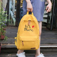 Litthing Women Canvas Backpacks Candy Color Waterproof School Bags for Teenagers Girls Laptop Patchwork Backpack 2019