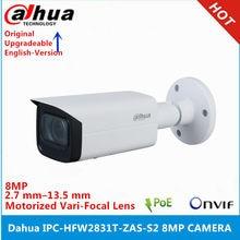 Dahua IPC-HFW2831T-ZAS-S2 8mp 2.7mm-13.5mm motorizado lente de zoom embutido slot para cartão sd interface de alarme áudio ir 60 m poe câmera