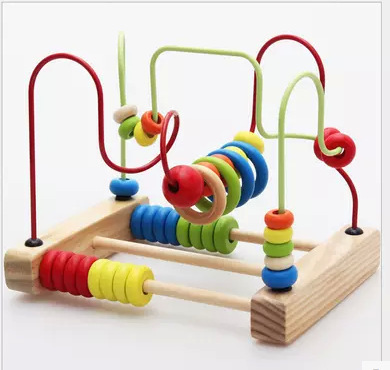 Bead-stringing Toy On Behalf Of Wooden Children Abacus Calculation Wisdom Bead-stringing Toy Early Childhood Educational Large S