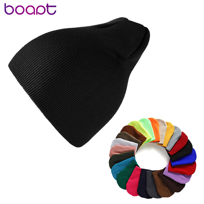 2019 Winter Hats for Woman HipHop Knitted Hat Ladies Warmer Slouchy Cap Crochet Ski   Beanie   Hat Female Soft Baggy   Skullies