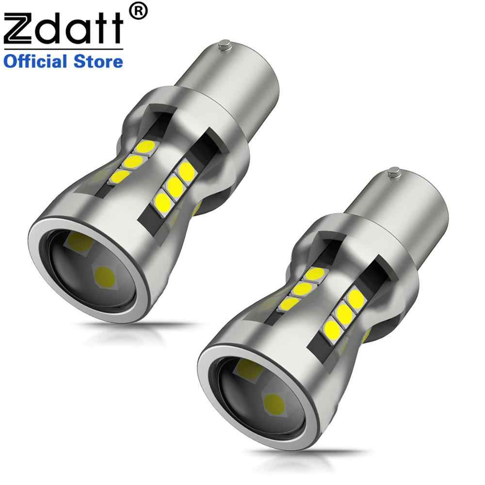 Zdatt 1156 1157 Signal Lamp Led Bulbs 21 Led SMD 3030 4.5W 12V Backup Reverse lights Red Yellow  White Brake Tail Interior Light