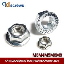 цена на 8.8 Grade M3M4M5M6M8 Galvanized Heavy Flange Nuts Anti-loosening toothed hexagona nut