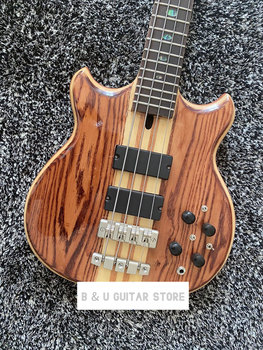 Elektryczna gitara basowa gitara natura drewno 4 ciąg elektryczna gitara basowa tanie i dobre opinie Rosewood MAHOGANY Nauka w domu Do profesjonalnych wykonań Beginner Unisex
