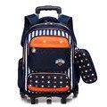 Детский рюкзак на колесиках 2/6  со съемными колесиками  на колесиках  школьная сумка для мальчиков и девочек  дорожная сумка  детский школьны...
