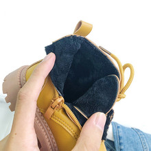Children Winter Boots Plush Kid PU Leather Ankle Boots Boys