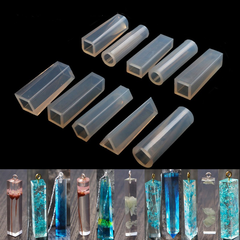 10 Shapes Silicone Casting Mold For DIY Resin Jewelry Pendants Silicone Casting Mold Tools For Clay Epoxy Resin